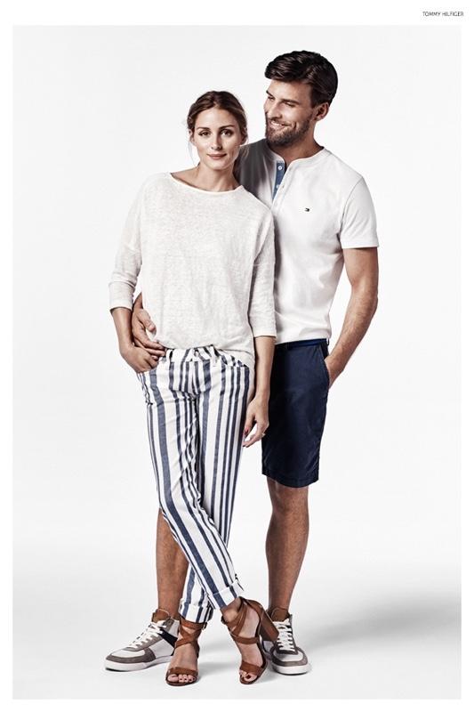 Olivia Palermo poses with husband Johannes Huebl
