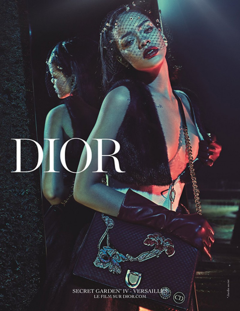 Rihanna is Glam for Dior 'Secret Garden' Campaign