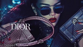 Rihanna poses in Dior 'Secret Garden' film