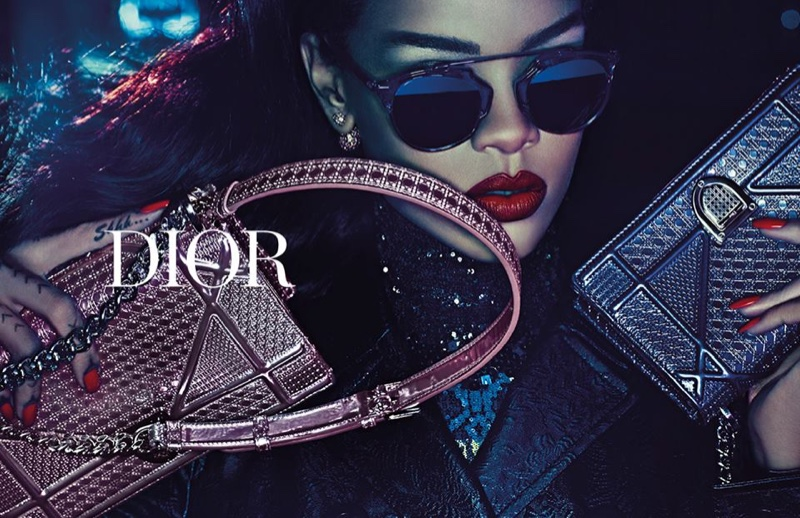 Rihanna poses in Dior 'Secret Garden' film