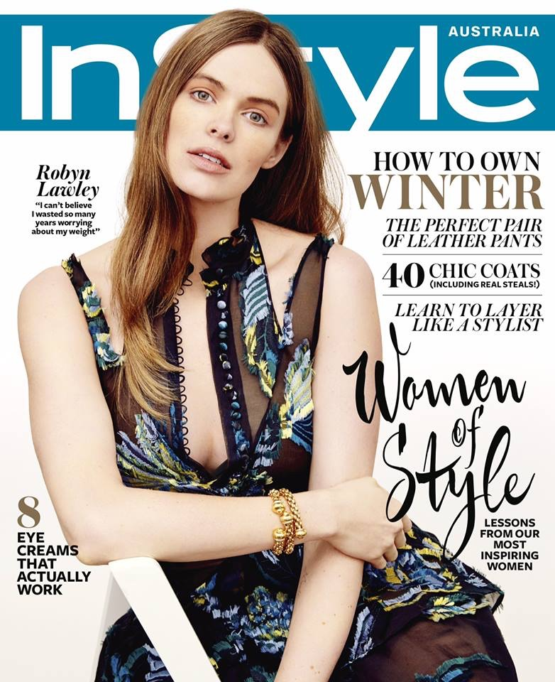 Robyn Lawley graces the June 2015 issue of InStyle Australia