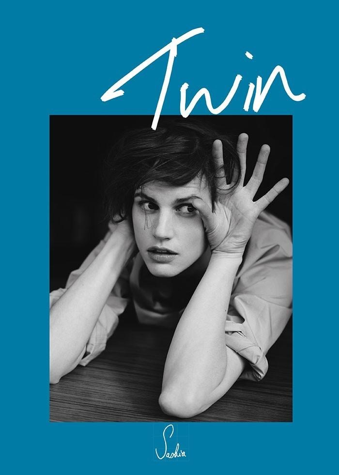 Saskia de Brauw lands the spring-summer 2015 cover of Twin magazine