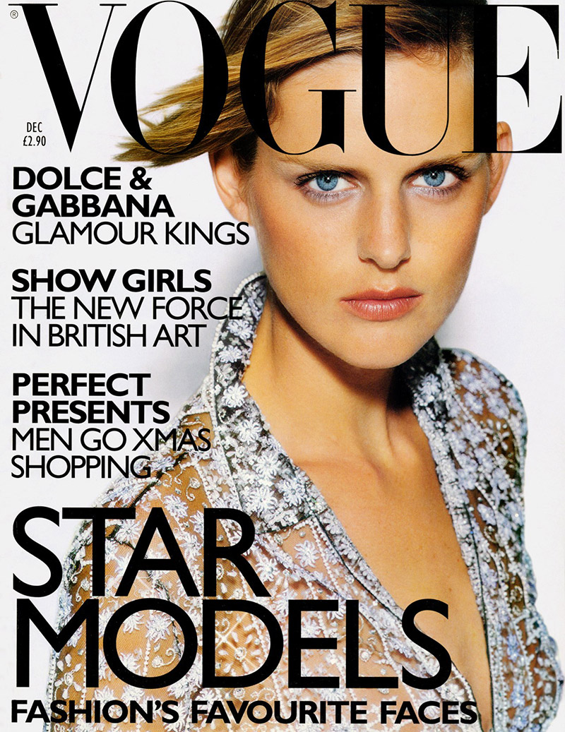 FLASHBACK: Stella Tennant on her first Vogue UK cover for the magazine's December 1997 issue