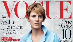 Stella Tennant graces the July 2015 cover of Vogue UK