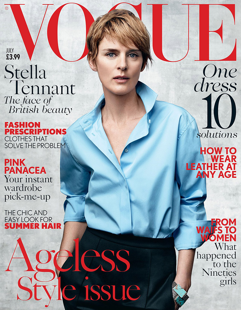 Stella Tennant Models Ageless Style on Vogue UK Cover
