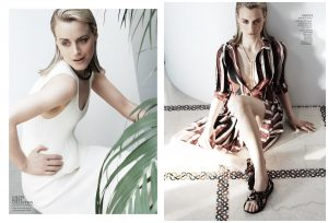 Taylor Schilling in Elegant Fashions for InStyle June 2015 Shoot