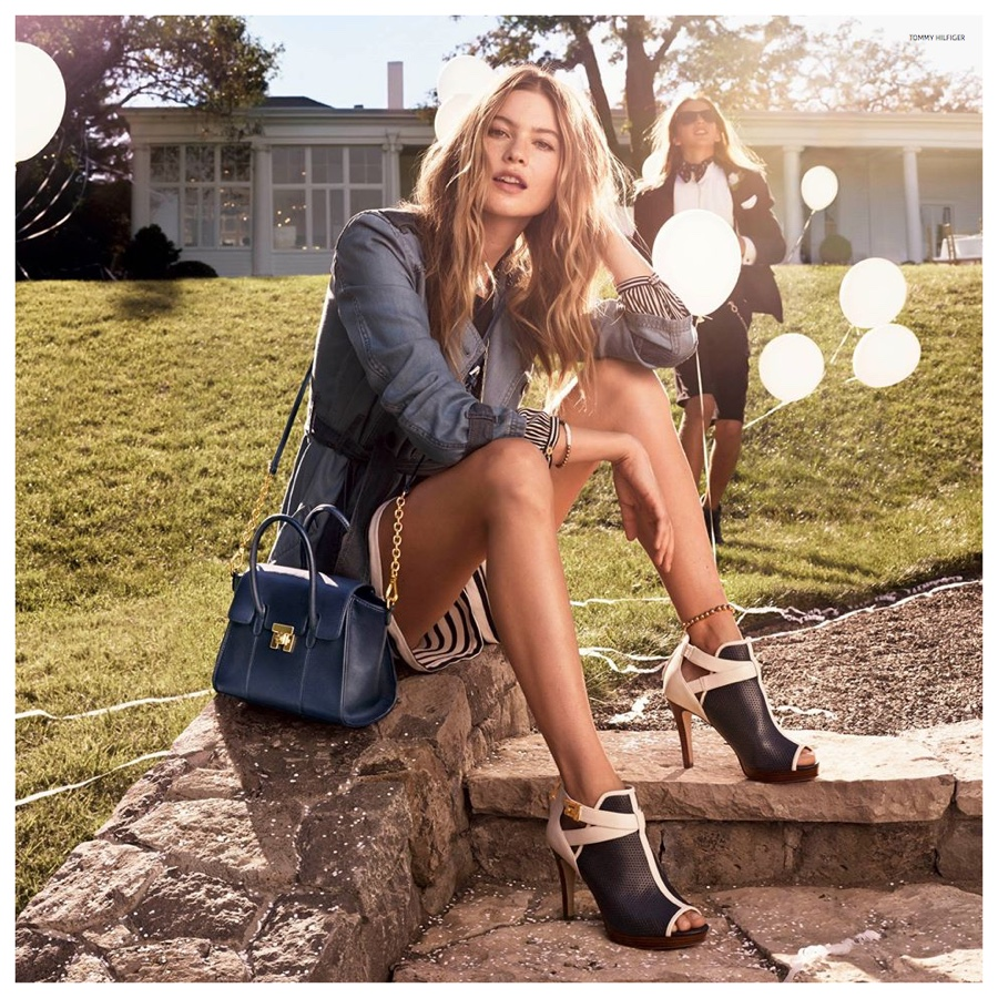 Behati Prinsloo does casual chic in Tommy Hilfiger