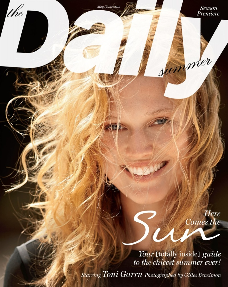 Toni Garrn appears on The Daily Summer's May-June 2015 issue