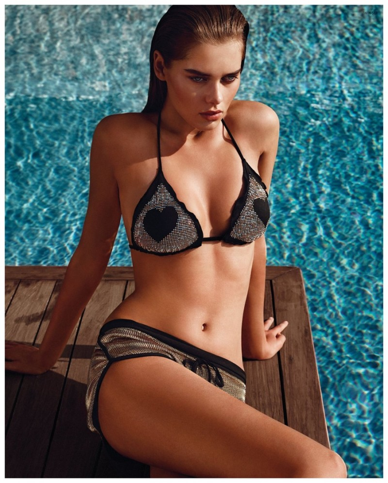 40f06300f96 ... campaign · Solveig Mork Hansen models a triangle bikini in Twin-Set's Summer  2015 advertisements