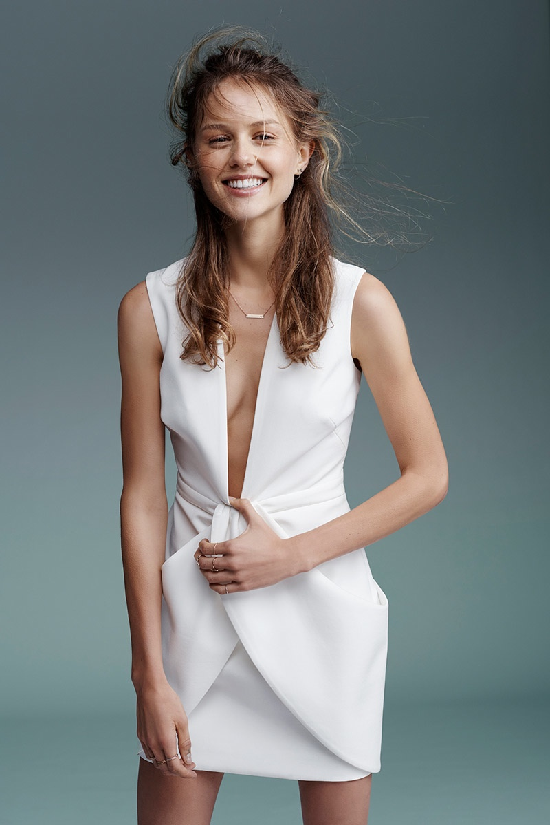A little white dress is perfect for the summer weather