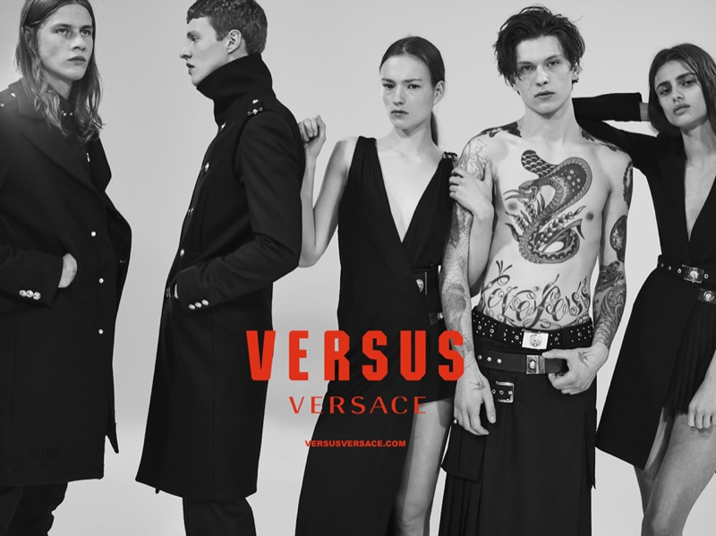 Models Pose in Versus Versace Fall-Winter 2015 Campaign