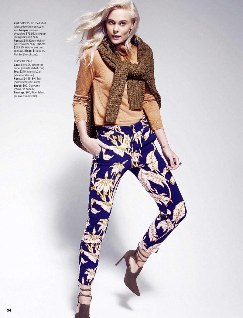 These Karen Walker pants embrace colorful patterns