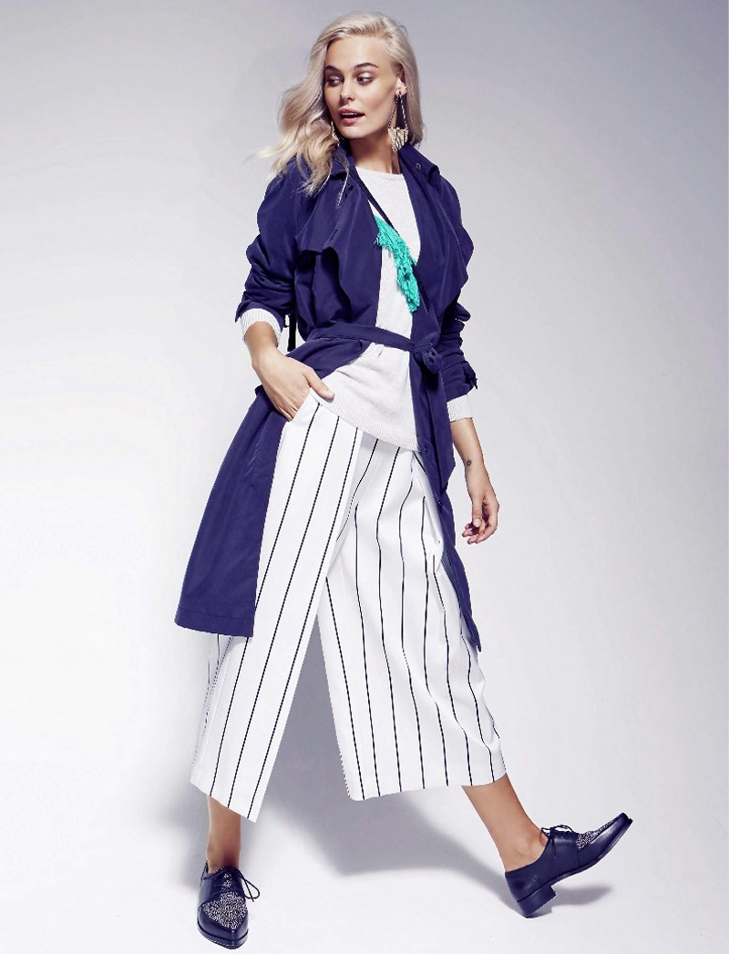 Taylash tries on the culottes trend with stripes
