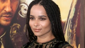 BEFORE: Zoe Kravitz with long braids earlier this month. Photo: Helga Esteb / Shutterstock.com