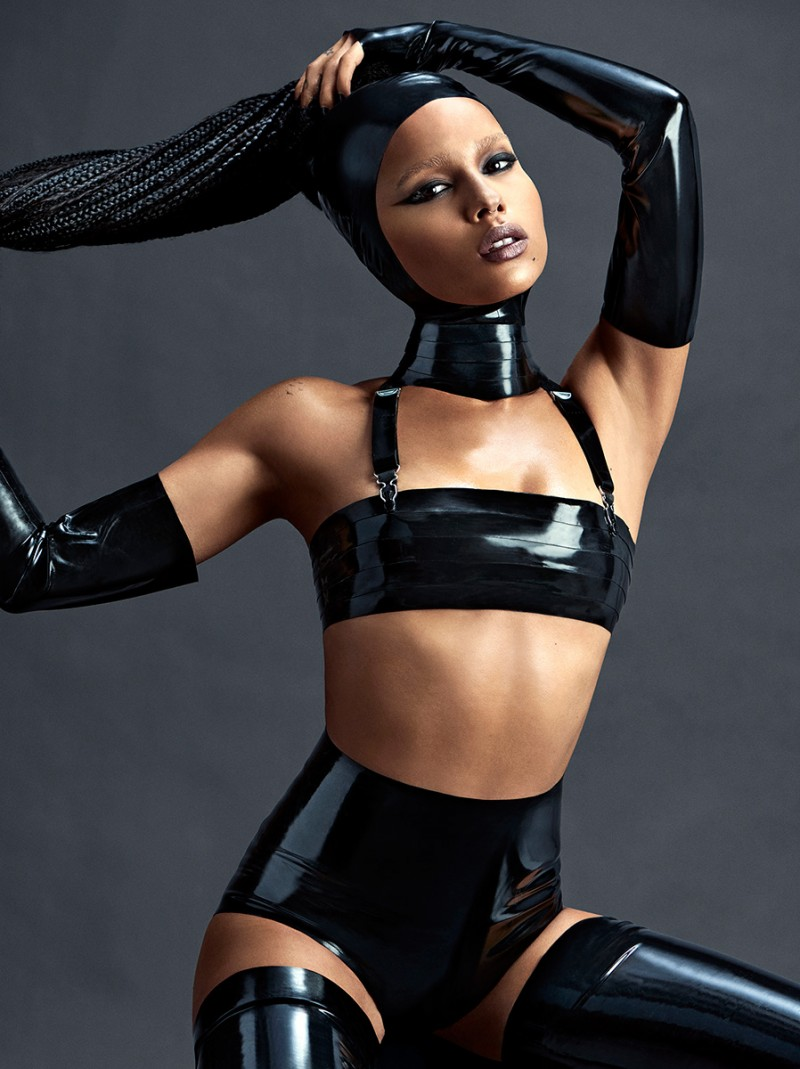 Zoe Kravitz poses for a revealing image.
