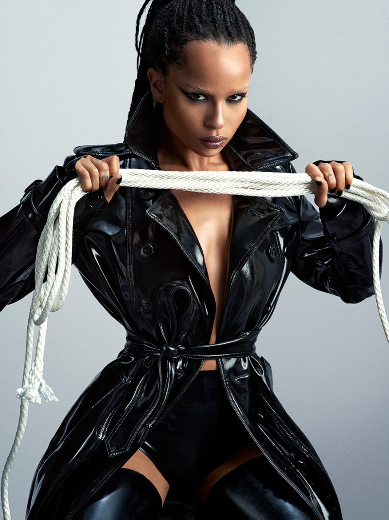 Zoe Kravitz is cinched into a stunning trench.