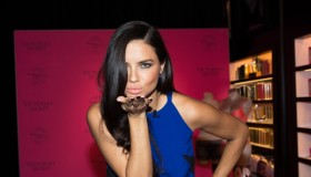 Adriana Lima celebrates Bombshells' Day in Las Vegas, Nevada for Victoria's Secret