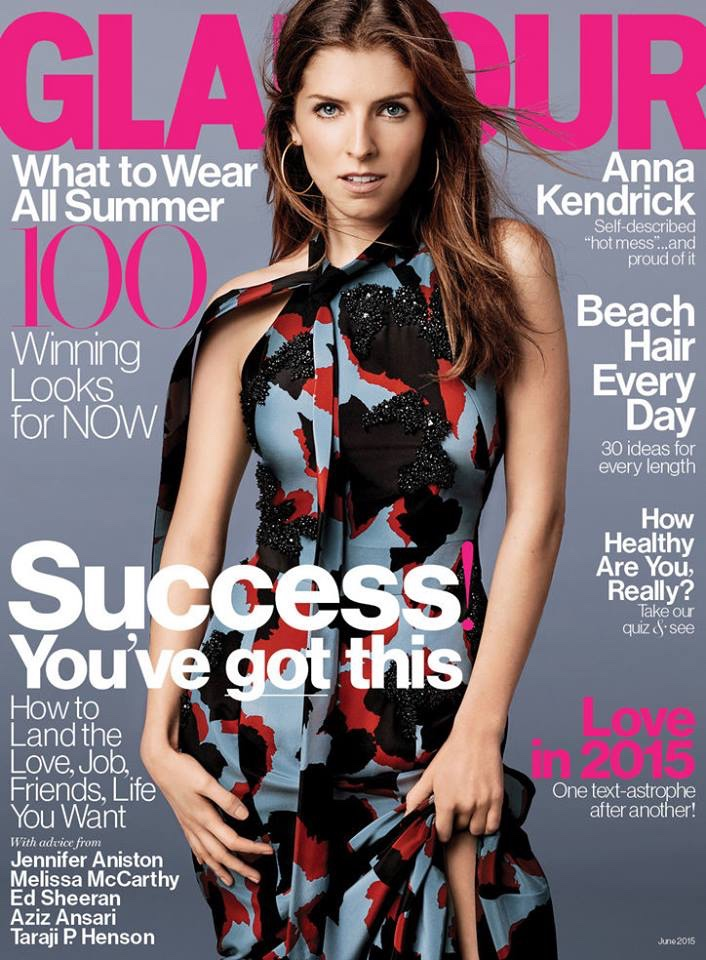 Anna Kendrick graces the June 2015 cover of Glamour