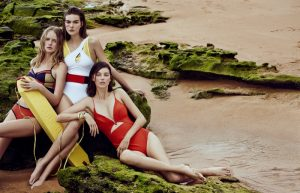 Training Day: Models Play Swimsuit Clad Lifeguards in Bazaar China
