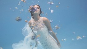 Bridal retailer BHLDN has launched a summer lookbook featuring underwater photos
