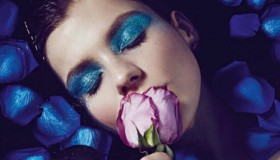 Klaudia Bulka poses for Jamie Nelson in Vogue Portugal beauty editorial