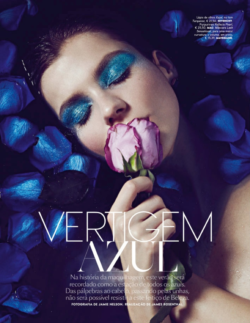 Shades of Blue: Klaudia Bulka Stars in Vogue Portugal Beauty Feature
