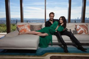 'Outlander' Stars Sam Heughan & Caitriona Balfe Pose for Emmy Magazine