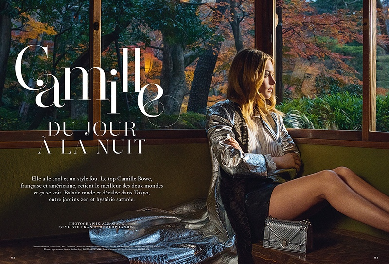 Camille Rowe Goes From Day to Night in Dior