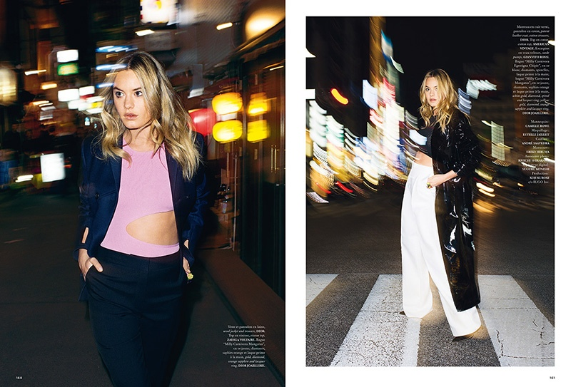 The French model takes to the city streets in spring looks
