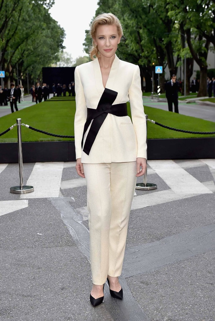 Cate Blanchett Rocks the Pant Suit at Armani 40th Anniversary Event