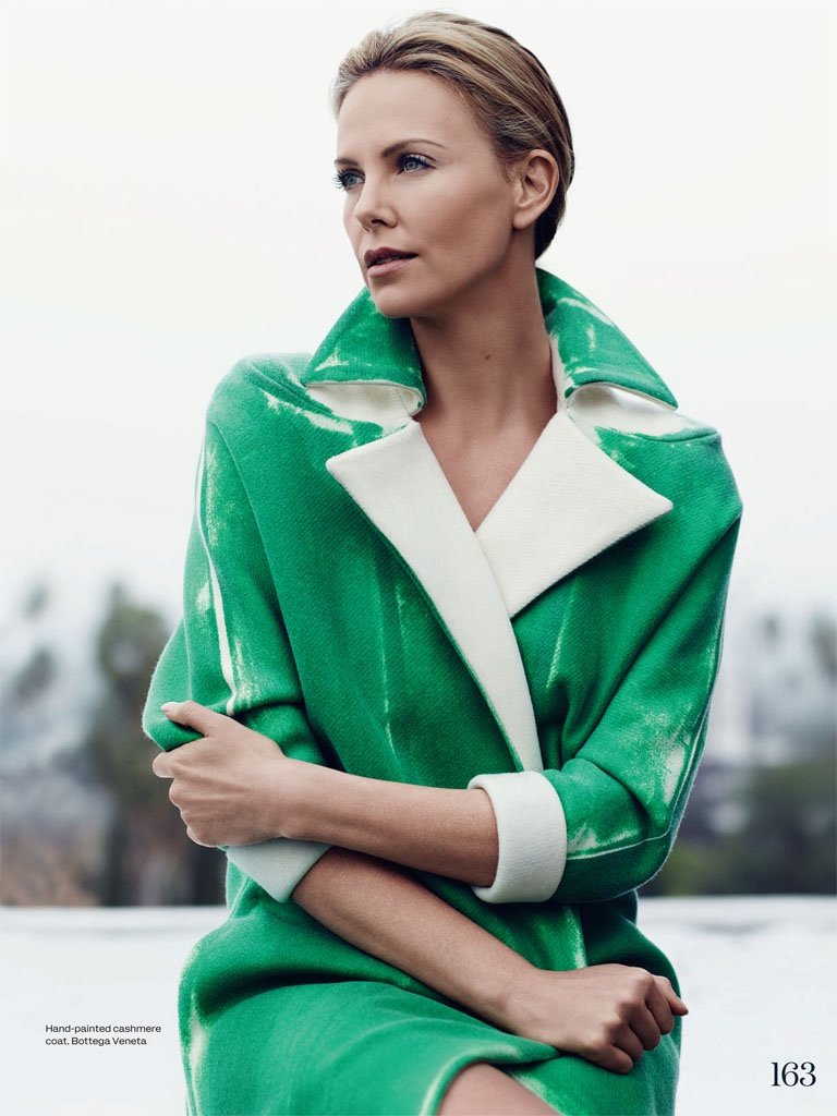 Charlize Theron stars in a photo shoot for ELLE UK's June issue photographed by Bjarne Jonasson