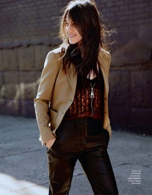 Charlotte Gainsbourg Wears Effortless Style for Grazia France Cover Shoot
