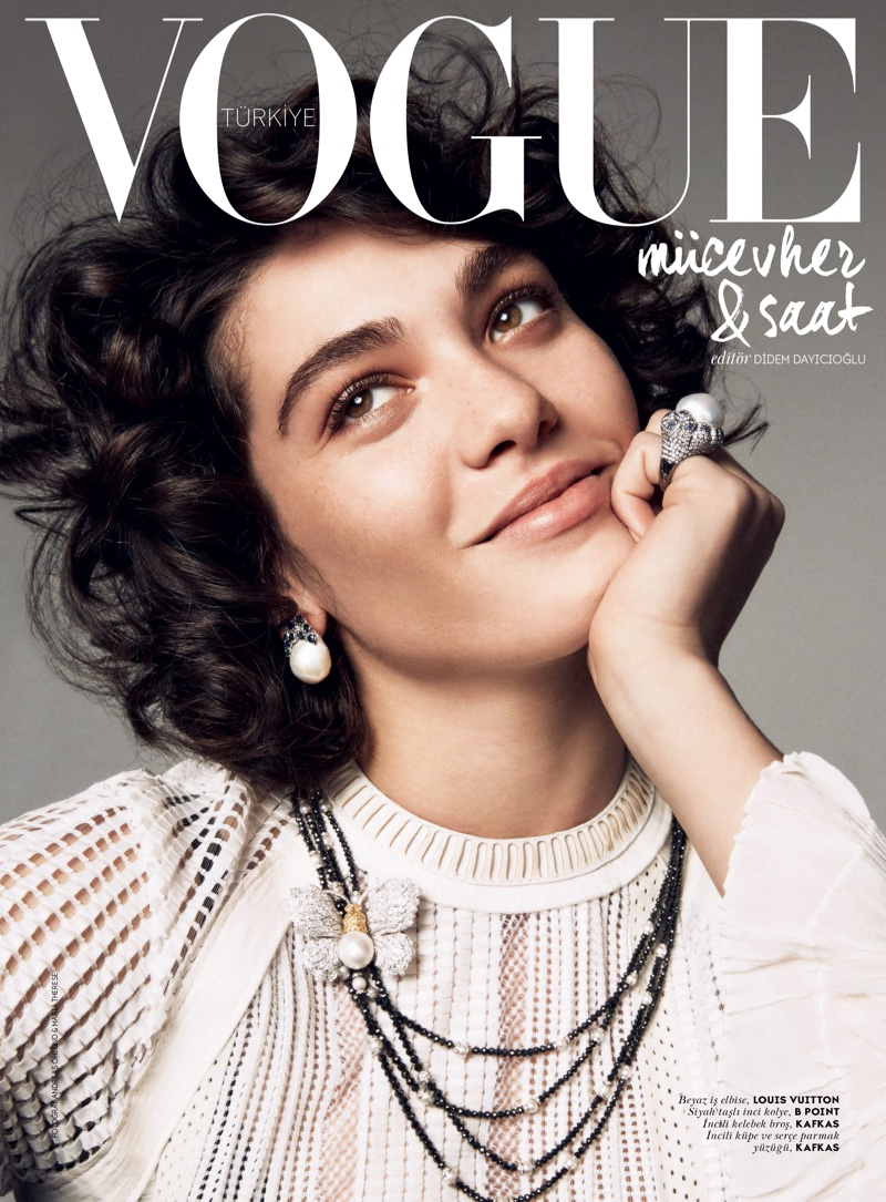 Steffy Argelich stars in a jewelry supplement for Vogue Turkey's May 2015 issue