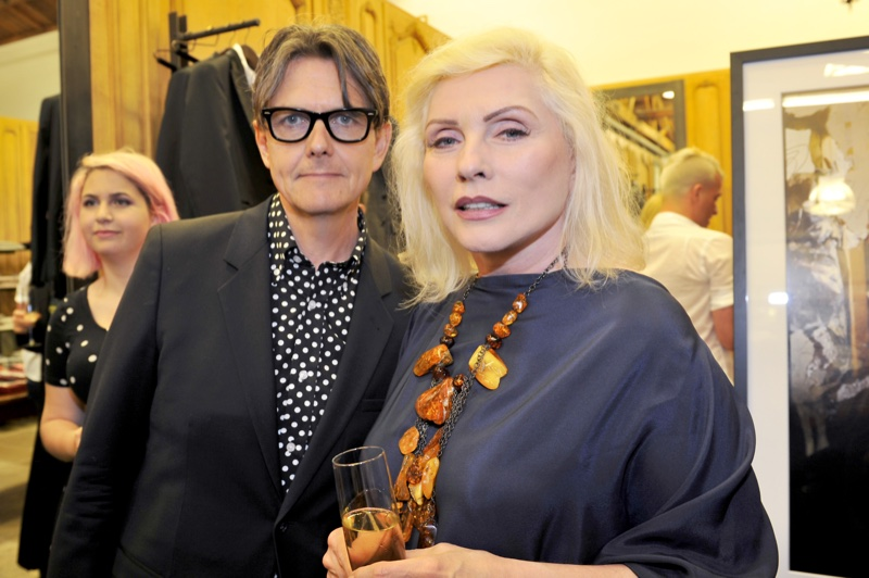 Kevin Haskins and singer Debbie Harry at the Blondie photography exhibit at Paul Smith LA. Atmosphere at  'Me, Blondie, and the Advent of Punk' exhibit at Paul Smith LA. Photo: Donato Sardella/WireImage