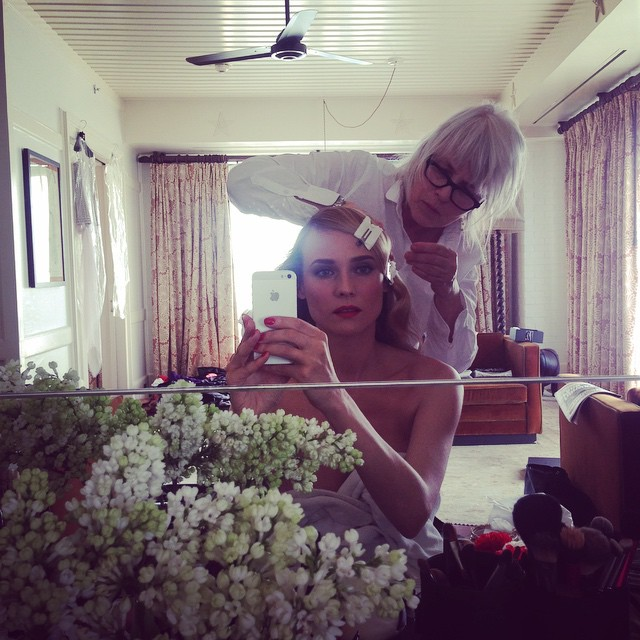 Diane Kruger gets glammed out before the Met Gala