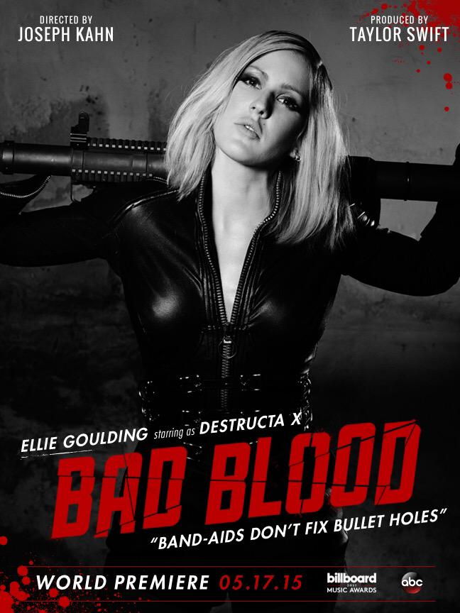 Elie Goulding on 'Bad Blood' music video poster