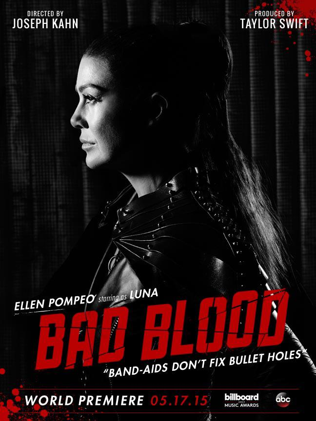 Ellen Pompeo on 'Bad Blood' music video poster