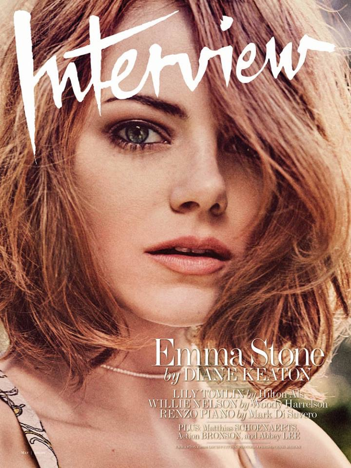 Emma Stone lands the May 2015 cover of Interview Magazine