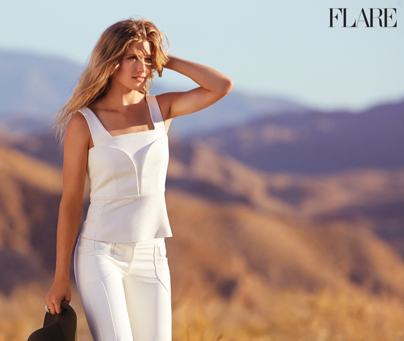 The images were photographed on location in Palm Springs, California