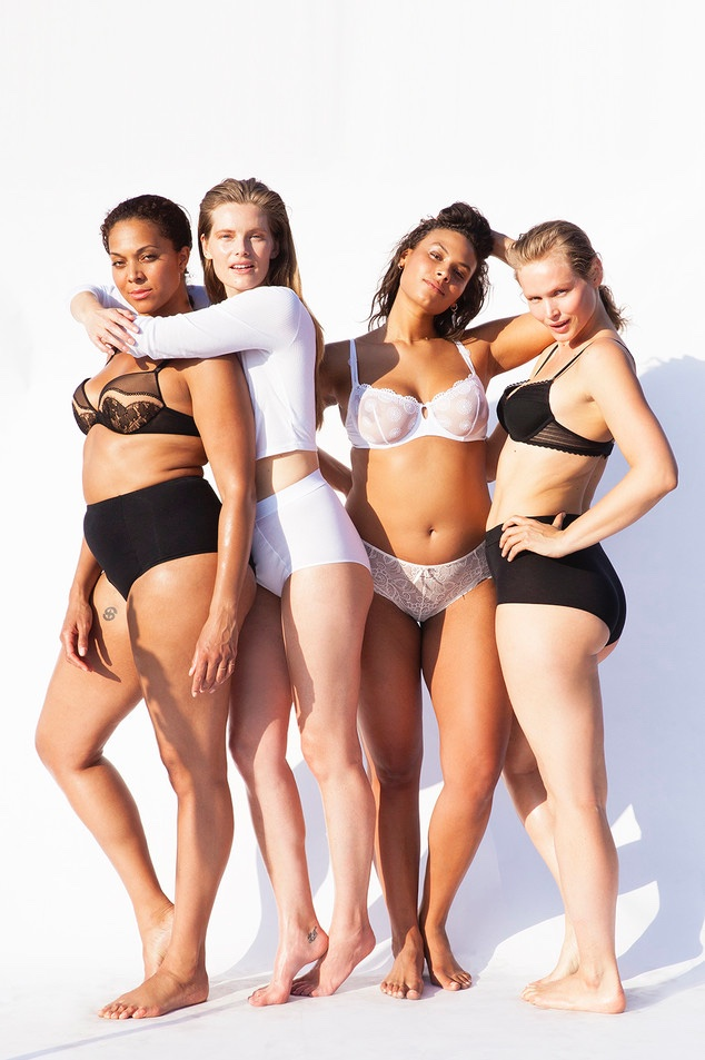 The girls show off the beauty of body diversity