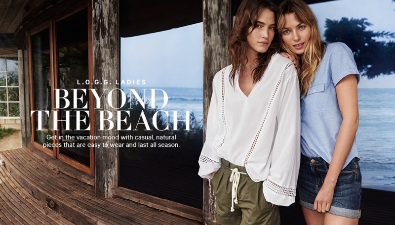 Crista Cober and Jessica Hart star in H&M's latest style guide