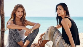 Josephine and Liu Wen are beach dwellers in the summer style guide