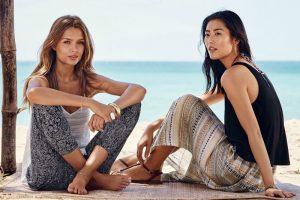 Liu Wen, Josephine Skriver, Edita V Sport Vacation Style for H&M