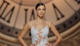 Irina Shayk walks the Atelier Pronovias 2016 bridal show