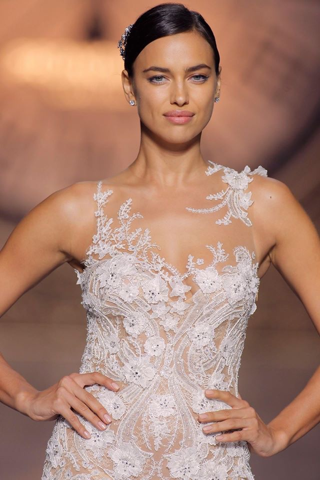 Irina Shayk Makes a Beautiful Bride at the Pronovias Fashion Show