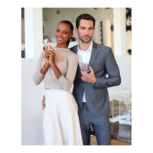 Real life model couple Jasmine Tookes and Tobias Sorensen are the new faces of Calvin Klein's 'Eternity Now' scent. Photo: Instagram