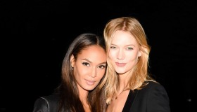 Karlie Kloss, Joan Smalls.  Photo: © 2015 Billy Farrell/BFAnyc.com