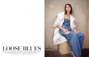 Katryn Kruger Sports Relaxed Denim for L'Officiel Mexico