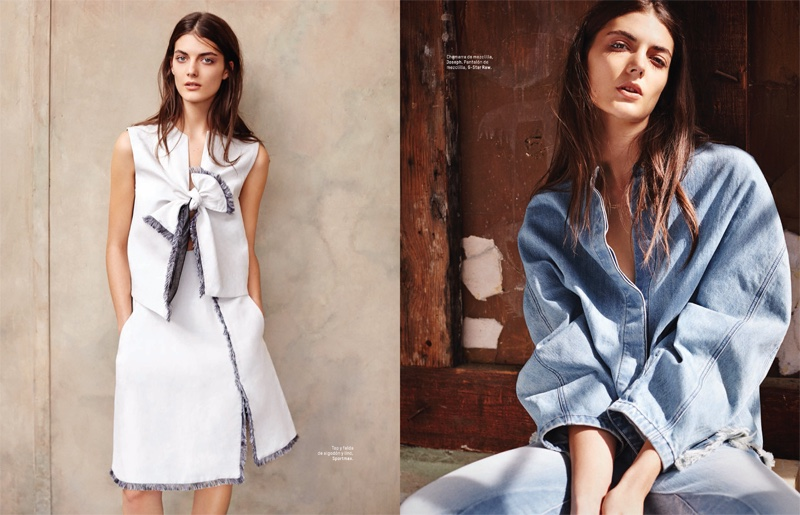 The South African wears relaxed denim style