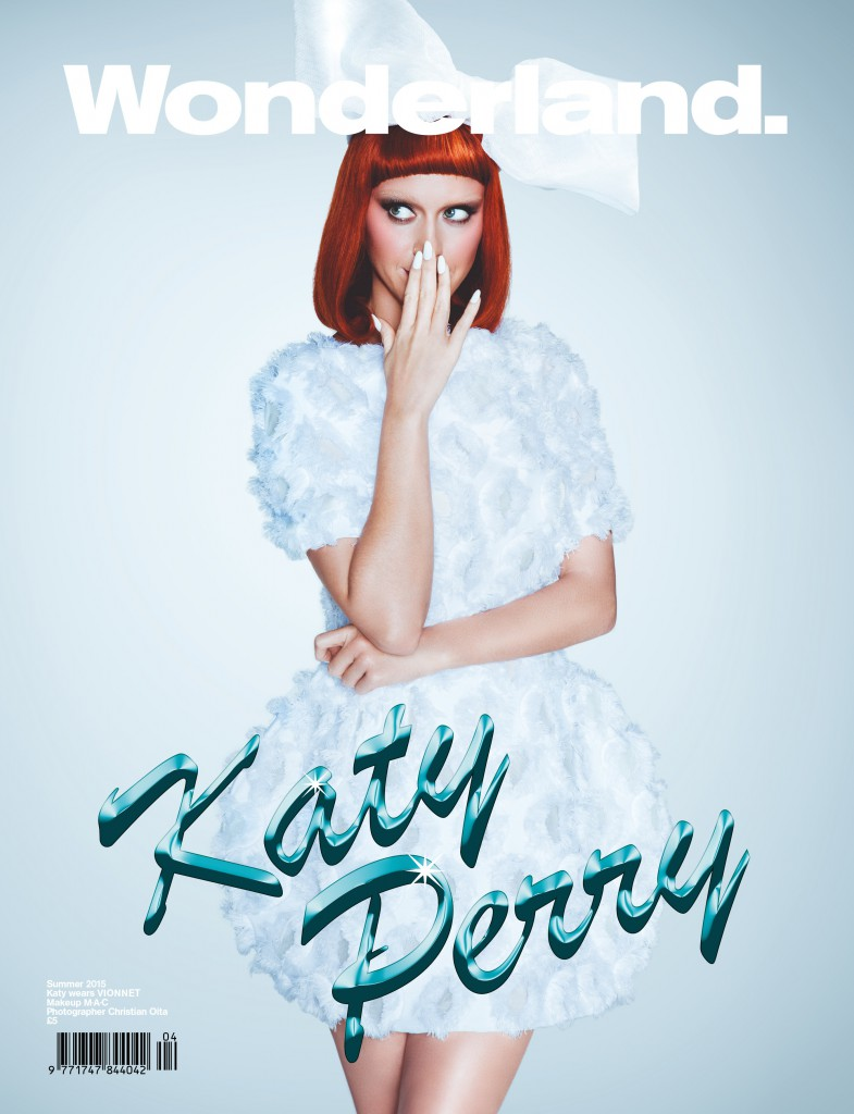 Katy Perry channels Lolita style on Wonderland Magazine cover
